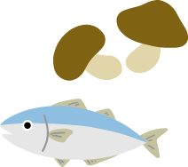 ビタミンDはきのこ類や魚介類に多く含まれています
