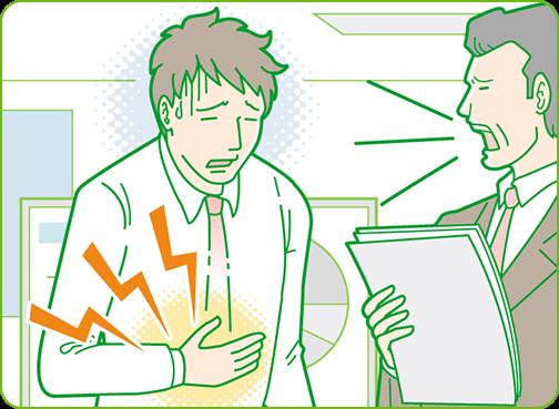 胃痛の原因と対策|原因編|胃痛とストレスの関係とは|ガストール ...